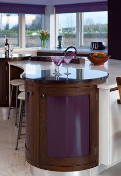 lila rund ideen kücheninsel designs klassisch