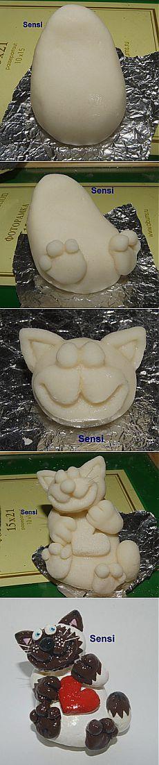 Очаровательные котики из соленого теста