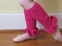 Ravelry: Ruffled Leg Warmers by Eileen Casey