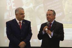 Secretário-Adjunto de Saúde do DF, Elias Fernando Miziara e o Diretor do HCB, Dr. Renilson Rehem.