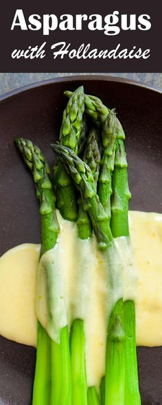 Elegant steamed asparagus served with a Hollandaise butter sauce. Perfect for Mothers Day or a side for a special dinner!