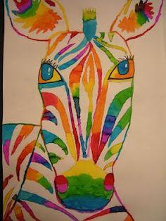 rainbow zebras! more-teaching-ideas