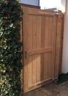 Backyard Gates, Garden Gates And Fencing, Garden Doors, Backyard Garden Design, Backyard Fences, Outdoor Gates, Fence Gates, Wooden Garden Gate, Wooden Gates