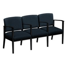 Mason Street Fabric Three Seater with Center Arms