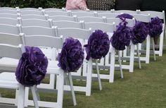 10 Wedding Ceremony Aisle Pom Poms/We Customize by PomGoddess, $30.00