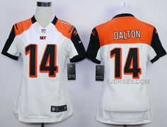 http://www.xjersey.com/nike-bengals-14-andy-dalton-white-women-game-jersey.html Only$38.00 #NIKE BENGALS 14 ANDY DALTON WHITE WOMEN GAME JERSEY Free Shipping!