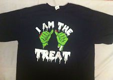 """I Am The Treat"" T Shirt Men's XL Funny Graphic Halloween 100% Cotton"