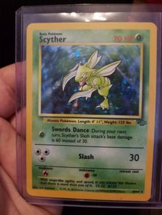 First Edition Scyther Pokemon Card Holographic 1999-2000 Wizards 10/64