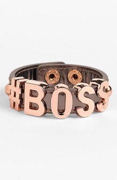 We Heart This <3 Like a #BOSS bracelet