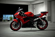 nice red motorcycl