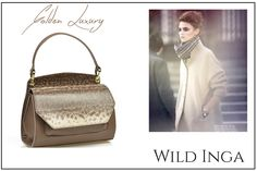 Golden Scarlett Leather Bag from Wild Inga's fall collection!