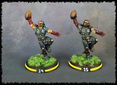 I have finished painting my Human Blood Bowl team, the Titan Bay Thunderhawks. I'm really happy with how the team has come out. Blood Bowl Teams, Blood Bowl Miniatures, Game Item, Tabletop Rpg, Fantasy Rpg, Sculpting, Minis, Scenery, Painting