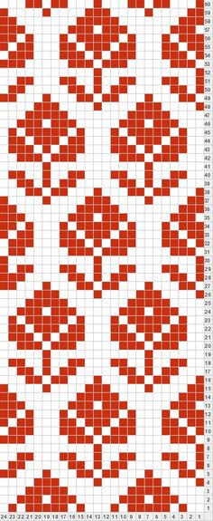 Patterned Fair Isle Chart, Fair Isle Pattern, Bead Loom Patterns, Weaving Patterns, Tapestry Crochet Patterns, Stitch Patterns, Broderie Simple, Knitting Charts, Knitting Stitches