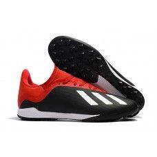 sports shoes 300d8 c81b2 adidas X 18.3 TF Svarta Röd Vita Fotbollsskor Konstgräs