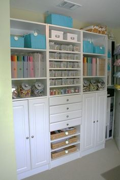 scrapbook room organization |