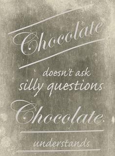 FREE funny saying printable for chocolate lovers ♡