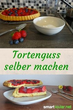 Tortenguss aus nur 3 Zutaten selbst herstellen With this simple recipe you can make cake without any unnecessary and questionable ingredients. Good for the health and the purse! Food Allergy Symptoms, Food Allergies, Vegan Cheesecake, Vegan Cake, Sweet Pumpkin Recipes, Gourmet Recipes, Cooking Recipes, Baking Ingredients, Diy Food