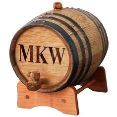 Personalized Whiskey Barrel Wine Barrel 1 or 2 or 3 Liter