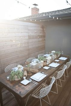 outdoor dinner party, urban style.