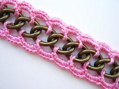 crochet chain bracelet - Pesquisa do Google