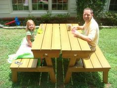 Convertable Picnic Table   Do It Yourself Home Projects from Ana White