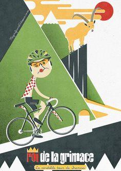 Roi de la grimace, cycling poster