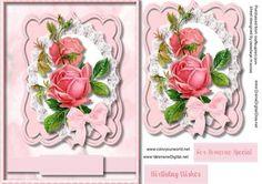 Lovely roses in a Ornate Bracket frame  on Craftsuprint - Add To Basket!