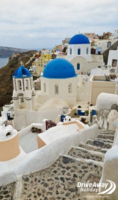 """""""We did a cruise around the Greek Islands and we stopped off in Santorini. I caught a donkey up the hill and it was fantastic!"""" #favouriteplaces #greece #santorini #staffpicks #travel"""