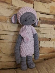 LUPO the lamb made by Olga C. / crochet pattern by lalylala