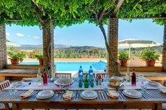 Arhondiko - Corfu #villa Villas In Corfu, Villa With Private Pool, Vintage Travel, Terrace, Greece, Table Decorations, Home Decor, Corfu, Balcony
