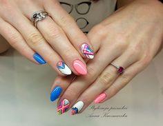 Aztec Nails by Anna Kaczmarska Indigo Young Team  :) Follow exciting nails designs, and pursue new styles! #nailart #nails #pink #pastel #blue #aztec