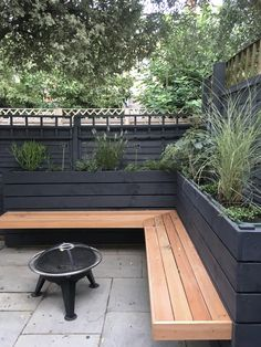 Floating garden bench