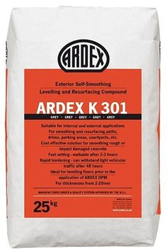 Ardex k301 25kg resurfacing and levelling compound for - Exterior floor levelling compound ...