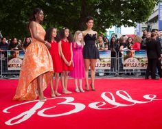 | BELLE UK PREMIERE |  Director Amma Asante with Gugu Mbatha-Raw and the young BELLE stars Lauren and Timia Julien-Box and Cara Jenkins!