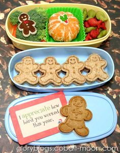 Gingerbread Man Christmas Bento Lunch