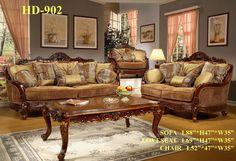 Amazon.com: Bergamo Elegant Classic Style Sofa and Love Seat Set: Home & Kitchen