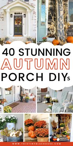 Glam up your front porch this autumn with one or a collection of these 40 gorgeous fall DIY porch decor ideas. These stunning porch ideas are guaranteed to make your porch stand out in your neighborhood.