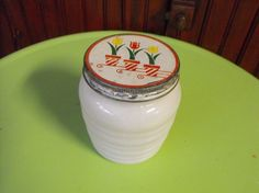 Vintage Anchor Hocking Ribbed Grease Jar with by peacenluv72, $29.50