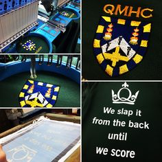 Another completed order for Queen Mary Hockey Club! Great embroidered logo and back slogan screen printed #screenprinting #embroidery #hockey