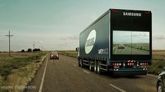 Samsung came up with a clever solution to passing trucks that often obstruct a view of the road ahead.