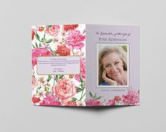 Funeral Program Template Square Booklet Style por ForeverYoursNZ