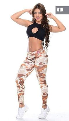 Chocolate/caramel/cream camouflage compression pants, black halter crop w/ frontal cutout Cheap Athletic Wear, Cute Athletic Outfits, Cute Gym Outfits, Athletic Women, Workout Clothes Cheap, Sports Leggings, Gym Wear, Workout Wear, Fitness Fashion