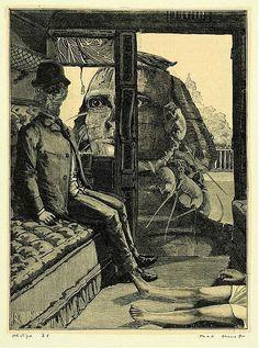 leichenschrei:  Max Ernst. Collage fromUne semaine de bonté. 1934.