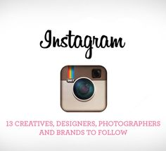 designers & photographers to follow on instagram via @Amber Housley