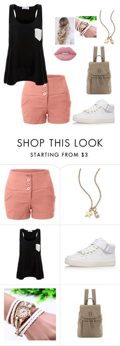"""""""Untitled #52"""" by welluma-costa ❤ liked on Polyvore featuring beauty, LE3NO, Jennifer Zeuner, Solid & Striped, Topshop, Tory Burch and Lime Crime"""