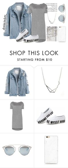 """""""Casual Denim"""" by colorful-jovana ❤ liked on Polyvore featuring T By Alexander Wang, Christian Dior, Go Stationery, casualoutfit and denimjackets"""