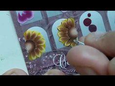 Nail Art, Bella, Youtube, Nail Stickers, White Nail Beds, Art Nails, Sunflower Nails, Nail Art Videos, Painting Videos