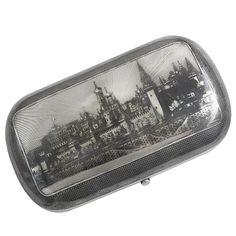 Antique Russian Silver and Niello Cigar Case. (late 19th century)