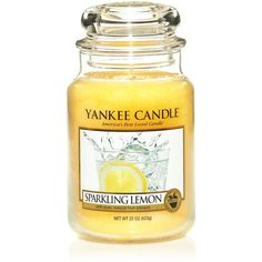 Yankee Candle Large sparkling lemon housewarmer candle ($24) ❤ liked on Polyvore featuring home, home decor, candles & candleholders, fillers, yellow fillers, candles, yellow, home fragrance & candles, living room and yankee candle