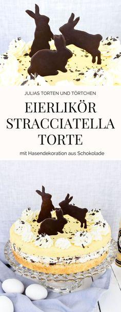 Eierlikör Stracciatella Torte Rezept zum backen einer Eierlikör Stracciatella Torte für Ostern und Inspiration zur Dekoration einer Oster Torte
